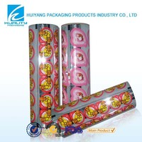 FDA Certified gravure printed plastic laminating top lid film for jelly packaging