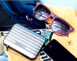 high capacity 20000mah mobile power pack travel suitcase style usb promotional gifts items