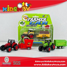2015 new product mini farm tractor pull back car truck model