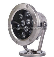 2015 factory price stailess steel 9w RGB ip68 underwater light pool light