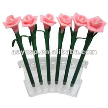 Flower lower shaped Popular style polymer clay gifs and promotional flower ball pen.