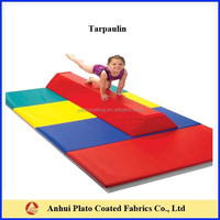 waterproof 100% polyester fabric price PVC Vinyl for Gymnastic mats