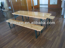 HE-206,Wooden Folding Beer Table Set/Beer Table and Bench/Wood Garden/Patio/Outdoor table sets