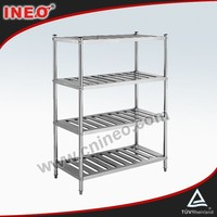 Commercial Kitchen Stainless Steel 5 Tiers Wire Shelf/Convenience Store Shelf/Fruit And Vegetable Shelf