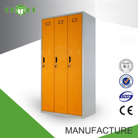 Widely used 3 door storage steel clothes cabinet