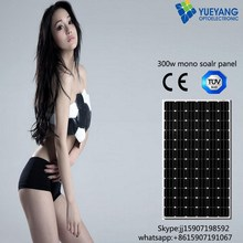 High quality 300w monocrystalline solar pv panels 300W solar panel manufacture in China TUV, IEC, CE, CEC, INMETRO ,ISO