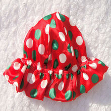 Stylish baby hat fashion satin flower christmas hat
