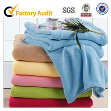 buy direct from China factory100 polyester coral fleece blanket wholesale