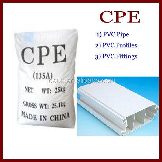 Polyéthylène chloré Cpe135a utilisé en PVC tuyaux et caoutchouc Industries
