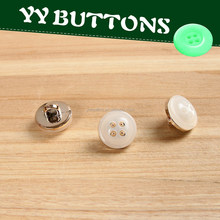 newest handmade shirt button glue on the gold plastic petal in stock