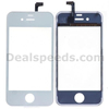 Touch Screen Digitizer Glass With Supporting Frame For iPhone4 ,White