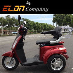 Elcybic three wheel electric tricycle with front/rear drum brake( E-TDR06)