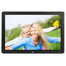 17 inch HD 1080P LED Display Multi-media Digital Photo Frame with Holder & Music & Movie Player, Support USB / SD / MS etc.