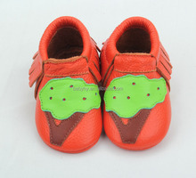 Fashionable baby&girl leather moccasins baby shoes for sale