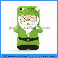 make silicone case gave friend as a Christmas present for iphone 4 santa claus case