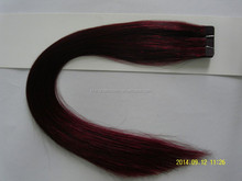 Hot sale quality double drown virgin remy 5a grade cyber purple tape hair extension
