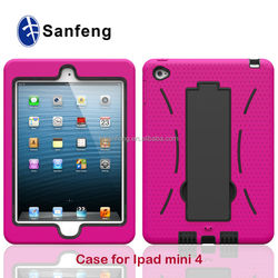 Factory Price Rubberized Rugged Protective Covers Cases For Mini Ipad 4