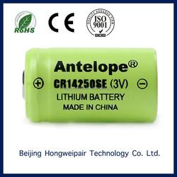 CR14250SE Beijing 3.0v bobbin type Lithium primary battery/Li-MnO2 battery