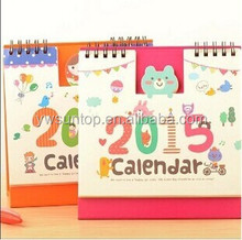 2015 fashion mini cute paper calendar wholesale