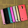 Colorful Hard Brushed Metal Cover Case Mobile Phone Bumper Case 5.7Inch For SAMSUNG GALAXY NOTE 4