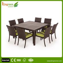 classic design outdoor furniture teak wood garden furniture UV plastic wood dining outdor garden wpc furniture
