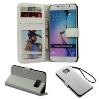 Leather phone cover case for Samsung galaxy s6 edge