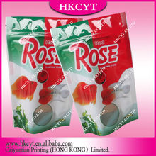Colorful printing food packaging bags for fish/clear plastic zipper bags