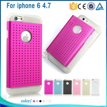 wholesale alibaba TPU+Metal mobile slim armor phone case cover for iphone 6 4.7