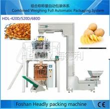 autoamtic weighing vertical nitrogen potato chips packaging machine price