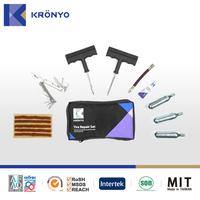KRONYO screw driver liquid co2 cylinder motorcycle tire repair kit