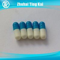 Blue and white kosher empty vegetarian capsule size 1