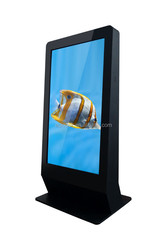 "High quality and low cost 65""stand alone kiosk touch screen computer in advertising playment"
