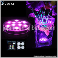 Wholesale art and craft supplise color changing led battery light vase base
