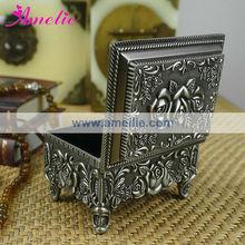 A659S Wholesale Souvenir Box Engraved Antique Jewelry Packing