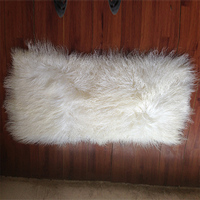 Long hair Mongolian curly lamb fur fabric plate