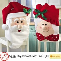2015 Hot Sell Mr & Mrs Santa Claus Christmas Kitchen Chair Covers