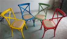 Dining Chair Specific Use and Dining Room Furniture Type High Quality rattan wooden dining X Cross Back Chair Home furniture