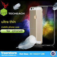 organic hot sell 2015 Clear Retail Thin TPU Transparent Cases for iPhone 6 cases china alibaba