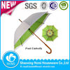 2015 Fashion Wooden Handle Double Layer Mechanism Fruit Printed Umbrella