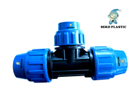 pp pe compression fittings reducing tee irrigation pipe fittings