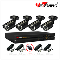 with Cable and Power Supply 4CH DVR Kit and 20m IR Camera system cctv
