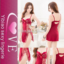 2015 Sexi Girls Attactive Hot Lace Underwear, Red Charming Sexy Lingerie Babydolls
