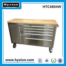 Professional work wood top 48 inch stainless steel large tool boxes