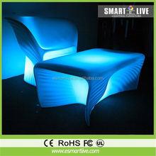 plastic nightclub furniture Fashion led sofa