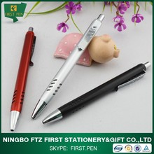 Hot Selling Cheap Advertisement Ball Pens Plastic Pen With Grip Metal Clip