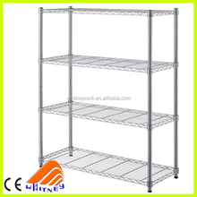 ce certificate 3 tier bedroom wall convenient storage rack stainless steel shelving
