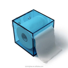 Double wall acrylic tumbler holder with toilet paper insert