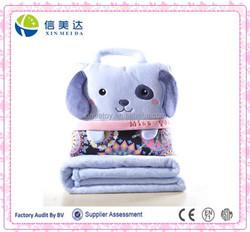 Nice Handmade Plush Animal Pillow Cover with Ploar Fleece Blanket