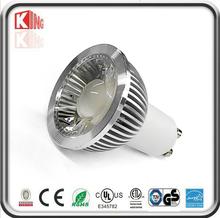 ETL cETL 50W Halogen Equivalent Dimmable 5W gu10 COB led spotlight Bulb for Recessed Light