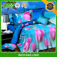 High quality 100 polyester bed sheets 3d/new bed sheet design/design your own bed sheets